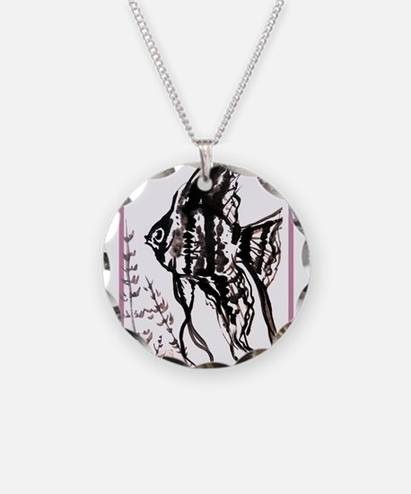 Angel fish, Asian art, Necklace