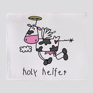 Holy Heifer Throw Blanket