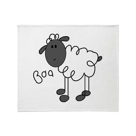 Baa Sheep Throw Blanket