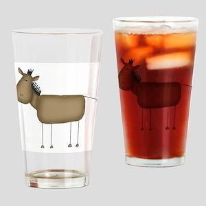 Stick Figure Horse Pint Glass