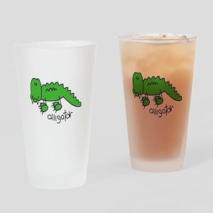 Stick Figure Alligator Pint Glass