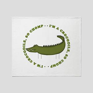 Crocodile Chomp Throw Blanket