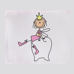 Tooth Fairy on Tooth Throw Blanket