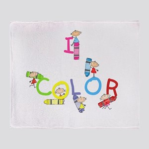 I Color Throw Blanket