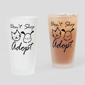 Don't Shop, Adopt Pint Glass
