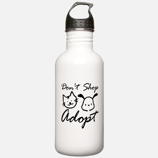 Don't Shop, Adopt Water Bottle