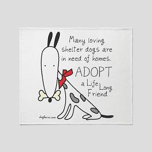 Life Long Friend (Dog) Throw Blanket