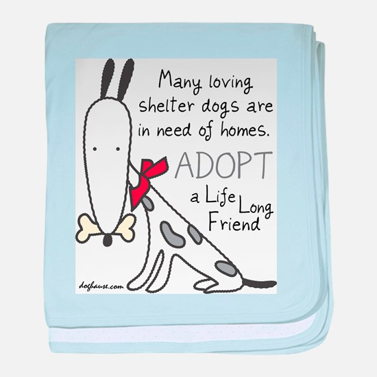 Life Long Friend (Dog) baby blanket