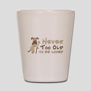 Senior Dog Adoption Shot Glass