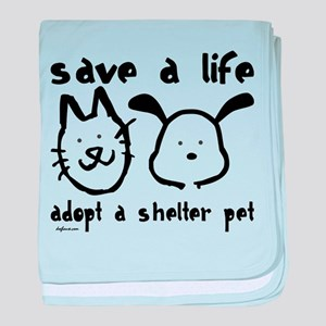 Save a Life - Adopt a Shelter baby blanket
