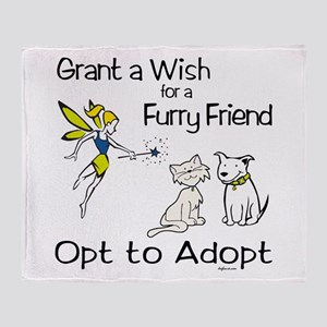 Grant Wish - Opt to Adopt Throw Blanket