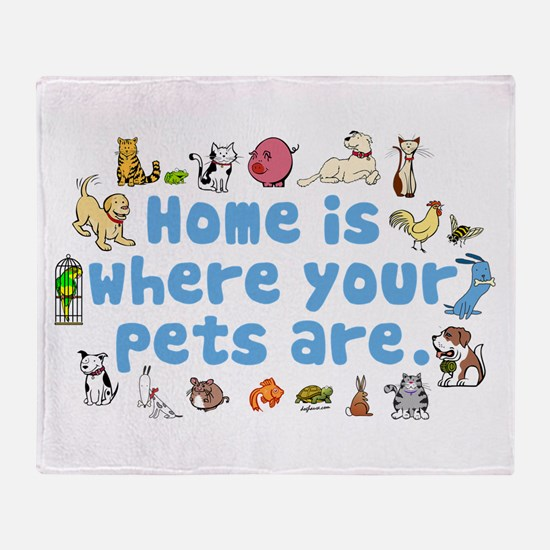 Home Is Throw Blanket