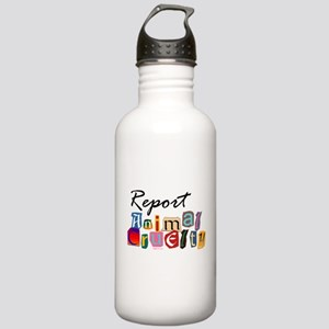 Report Animal Cruelty Stainless Water Bottle 1.0L