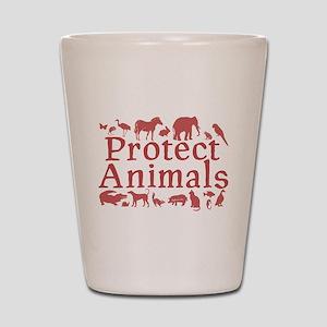 Protect Animals Shot Glass