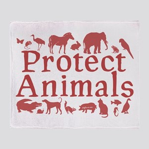 Protect Animals Throw Blanket