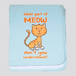 Part of Meow baby blanket
