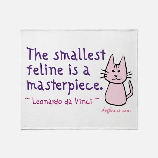 Smallest Feline Throw Blanket