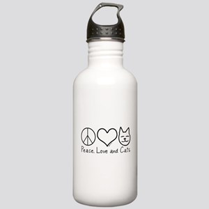 Peace, Love, and Cats! Stainless Water Bottle 1.0L