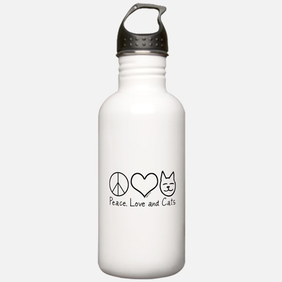 Peace, Love, and Cats! Water Bottle