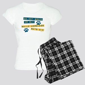 Do Not Breed or Buy Labels Women's Light Pajamas