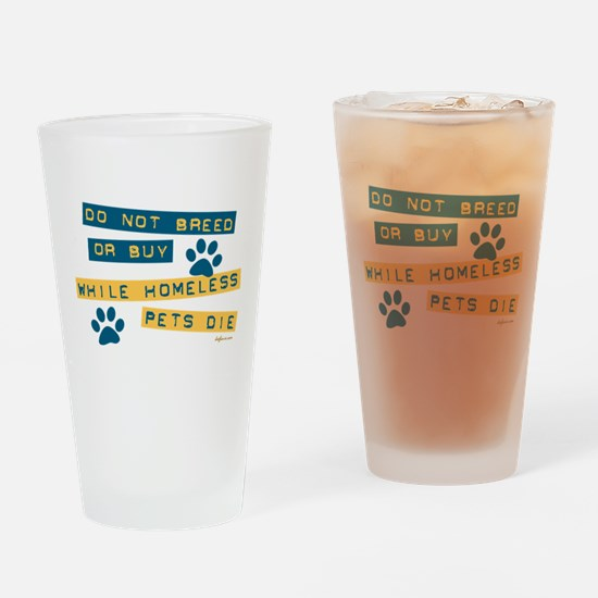 Do Not Breed or Buy Labels Pint Glass