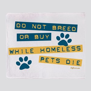 Do Not Breed or Buy Labels Throw Blanket
