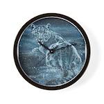 Star Leopard Wall Clock
