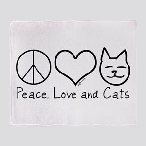 Peace, Love, and Cats! Throw Blanket
