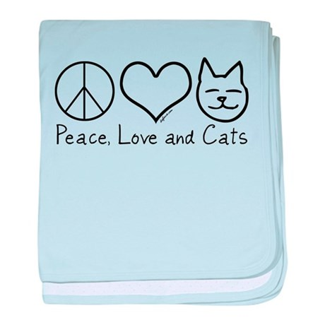 Peace, Love, and Cats! baby blanket