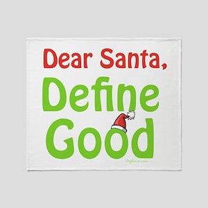 Define Good Santa Throw Blanket