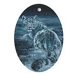 Star Leopard Ornament (Oval)