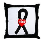 Black Hope Throw Pillow