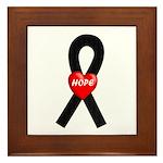 Black Hope Framed Tile