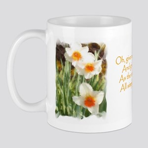 White Daffodils & Poem Mug