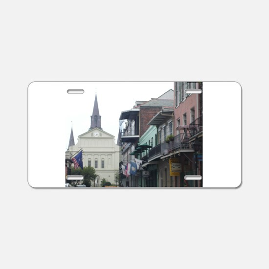New Orleans French Quarter Aluminum License Plate