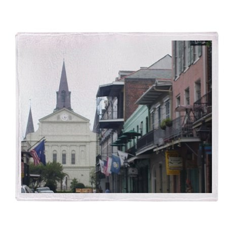 New Orleans French Quarter Throw Blanket