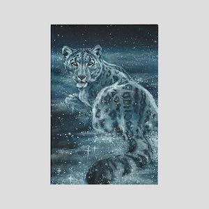 Star Leopard Rectangle Magnet