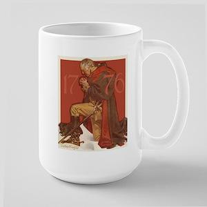 George Washington in Prayer Large Mug