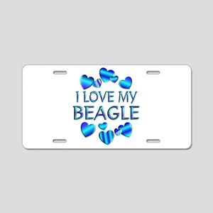 Beagle Aluminum License Plate