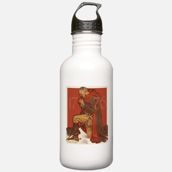 George Washington in Prayer Water Bottle