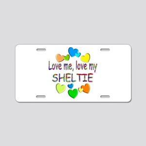 Sheltie Aluminum License Plate