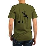 Bouldering (Back) Organic Men's T-Shirt (dark)