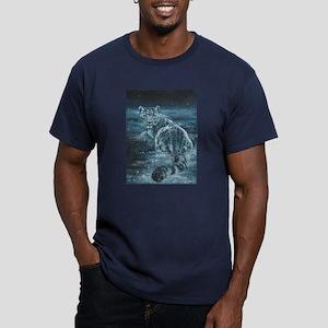 Star Leopard Men's Fitted T-Shirt (dark)