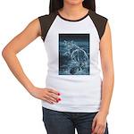 Star Leopard Women's Cap Sleeve T-Shirt