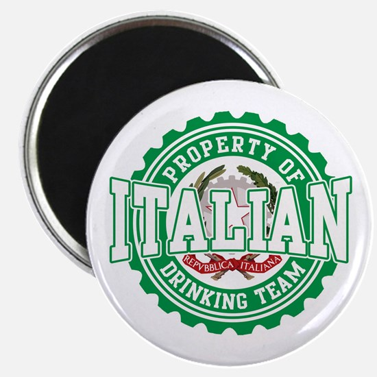 Property of Italian Drinking Magnet