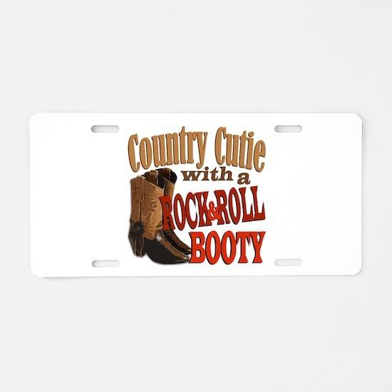 Country Cutie Aluminum License Plate