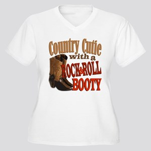 Country Cutie Women's Plus Size V-Neck T-Shirt