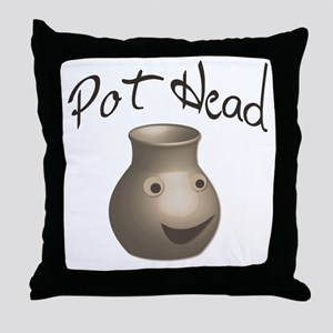 Pot Head Throw Pillow