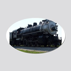 Steam Engine 22x14 Oval Wall Peel