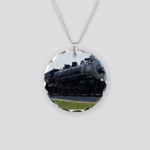 Steam Engine Necklace Circle Charm